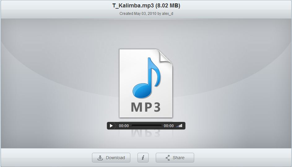 Share MP3 files with OpenDrive