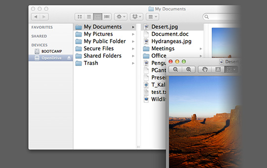 OpenDrive for Mac
