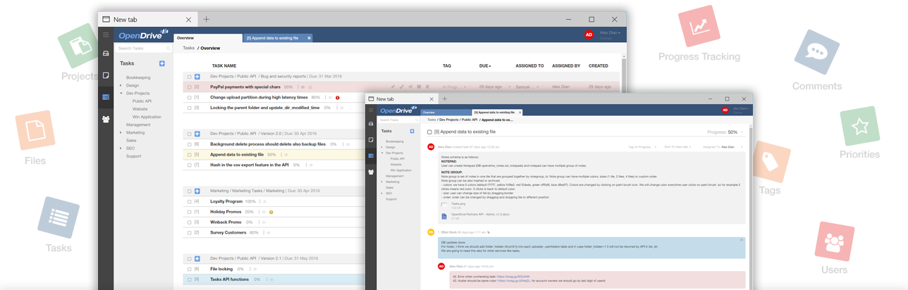 OpenDrive Task Management